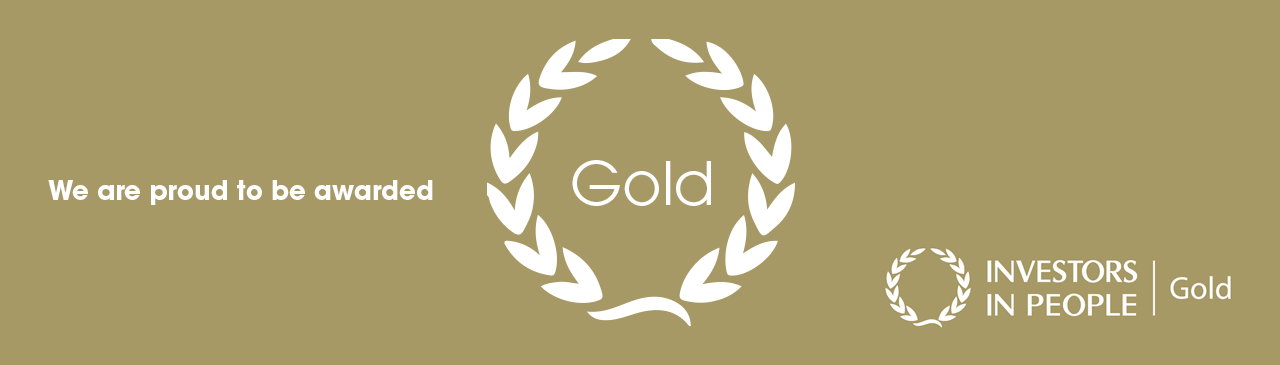 we are proud to be awarded Gold