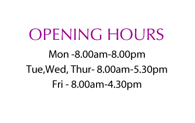 opening hours at Catherine Street Dental